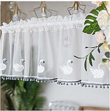 HHXD Chiffon Tier Curtains Thermal Insulated