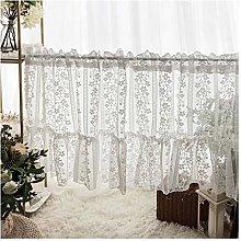 HHXD Romantic Sheer Tier Curtains Rod