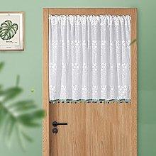 HHXD Sheer Tier Curtains Kitchen Cafe Short Window