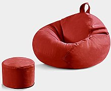 HHXX Bean Bag Small Sofa, Lazy Lounger, with