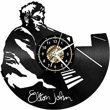 HHYXIN Retro Vinyl Clock Creative Wall Clock Vinyl