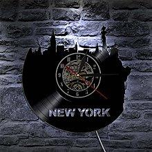 HHYXIN Vinyl record wall clock 1Piece New York
