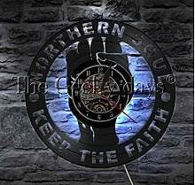 HHYXIN Vinyl Record Wall Clock 1Piece Northern