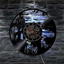 HHYXIN Vinyl record wall clock Hunting Dog