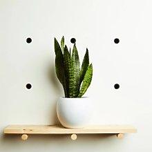 Hi Cacti - White Round Ceramic Plant Pot - white -