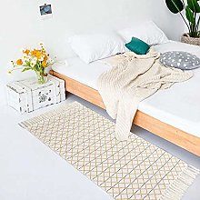 hi-home Area Rug for Living Room, Cotton Hand