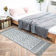 hi-home Boho Area Rug for Living Room, Soft Grey