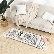 hi-home Cotton Area Rugs for Bedroom, Woven Small