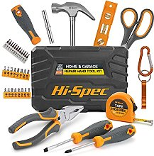 Hi-Spec 42 Piece Household DIY Hand Tool Kit Set.