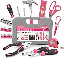 Hi-Spec 42 Piece Pink Household DIY Hand Tool Kit
