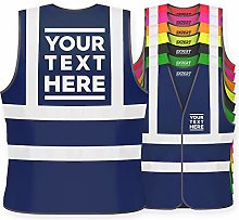 Hi Vis Personalised Vest Safety Reflective