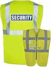 Hi Vis Security Vest Reflective Waistcoat with Zip