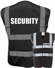 Hi Vis SECURITY Vest Waistcoat Safety Reflective