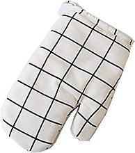 HIAQIMEI BBQ Grill gloves Oven Mitts gloves Cotton