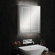 HiB Edge 60 Aluminium LED Double Door Bathroom