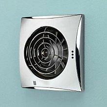 HIB - Hush Chrome Wall Mounted Bathroom Fan with Timer