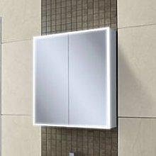 HiB Qubic 60 Aluminium LED Double Door Bathroom