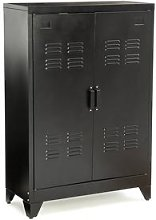 Hiba Low Metal Cabinet with Two Doors by La Redoute
