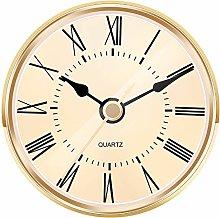 Hicarer 2.8 Inch (70 mm) Gold Quartz Clock Insert