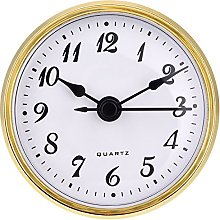 Hicarer 2.8 Inch/ 70 mm Quartz Clock Insert, Gold