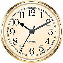 Hicarer 3-1/2 Inch (90 mm) Gold Quartz Clock