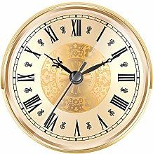 Hicarer 4.3 Inch/ 110 mm Quartz Clock Insert, Gold
