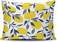 Hidden Zipper Pillowcase Fashion Yellow Lemons and