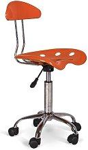 Hideaway Desk Chair Brayden Studio Colour: Orange