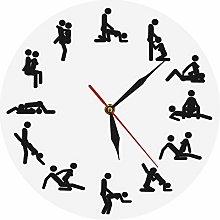 HIDFQY 24 hour sex wall clock sex wall clock clock