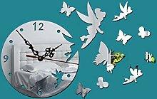 HIDFQY 3D creative clocks home decoration mirror