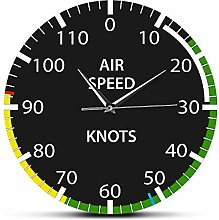 HIDFQY Silent Wall Clock Airspeed equipment