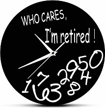 HIDFQY Silent Wall Clock Who cares that I am