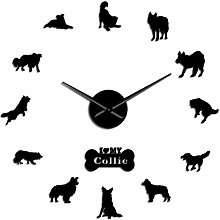 HIDFQY Wall Clocks, Delicate Wall Clocks Dog breed