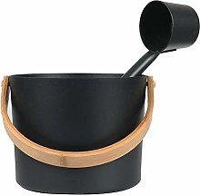HiFuture Sauna Bucket with Long Handle Spoon Set,