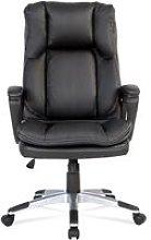 High-Back Executive Desk Chair Black PU Leather PC