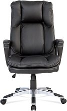 High-Back Executive Desk Chair Black PU Leather PC