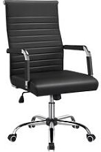 High Back Office Chair PU Leather Computer Desk