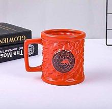 High-Capacity Coffee Cup Mug Wolf Ceramic Cup