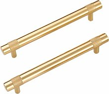 High End Cabinet Pulls Brass,2 Pack,Hole Centers: