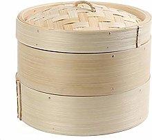 High end Steamer, 2-layer Bamboo Steamer, Snack