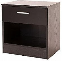 High Gloss Bedside Cabinet with Drawer - Ottawa