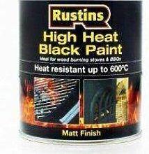 High Heat Paint Black - 250ml - Rustins