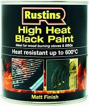 High Heat Paint Black Paint 500ml - Rustins