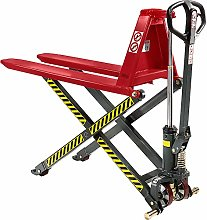 High-lift pallet truck ,manual hydraulics, standard