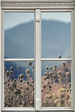 High Plants Window Wall Sticker Ebern Designs