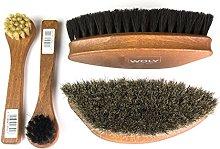 High-Polish Shoe Luxury Horse Hair Brushes