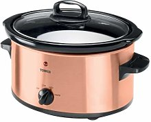 High Quality Tower 3.5 Liter Copper Slow Cooker