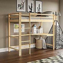 High Sleeper Bunk Bed Cabin Loft Bed Frame Desk