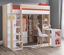 High Sleeper Storage Bed, Happy Beds Aurora Oak