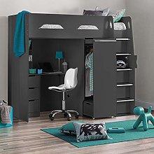 High Sleeper Storage Bed, Happy Beds Pegasus
